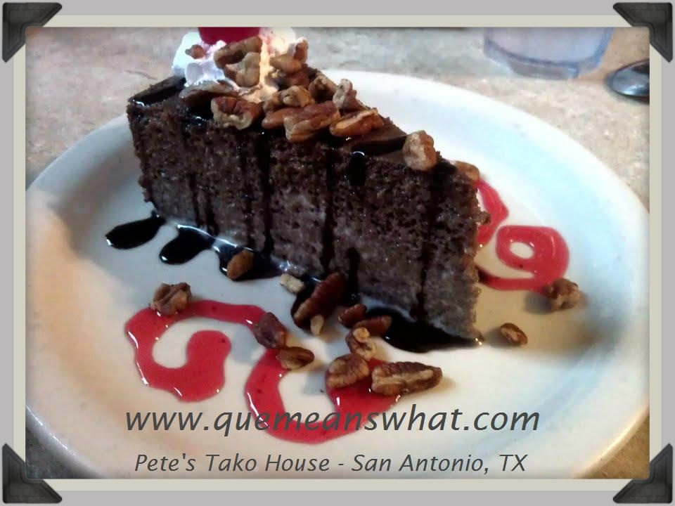 Chocolate Tres Leches Cake - ¿Qué Means What?