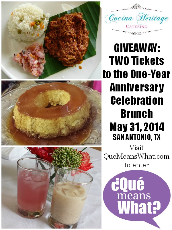 Cocina Heritage Brunch Giveaway on QueMeansWhat.com