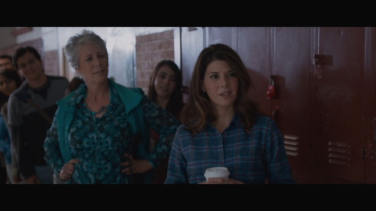 JAMIE LEE CURTIS as MS. KAREN LOWRY and MARISA TOMEI as GWEN KOLINSKY in SPARE PARTS.  Photo Credit (c) 2014 Ursula Coyote / Pantelion Films QueMeansWhat.com