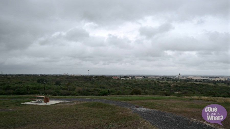 A view from the top at Pearsall Park Trailhead - Que Means What