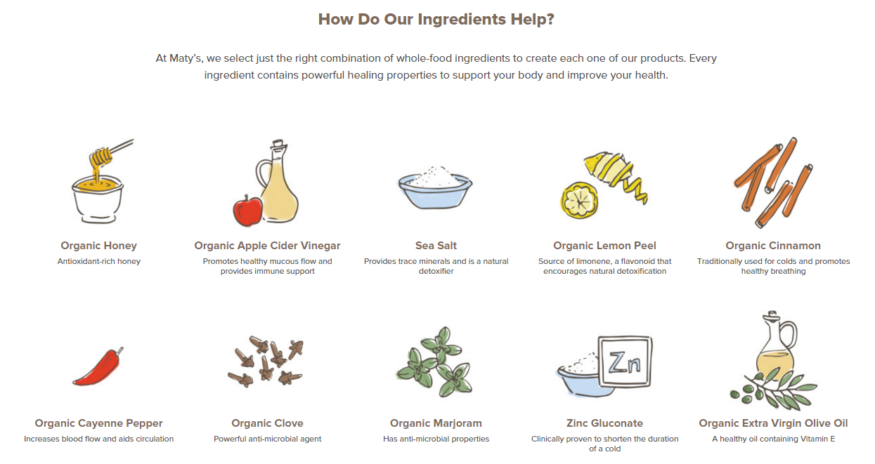 Maty's Organic Cough Syrup Ingredients