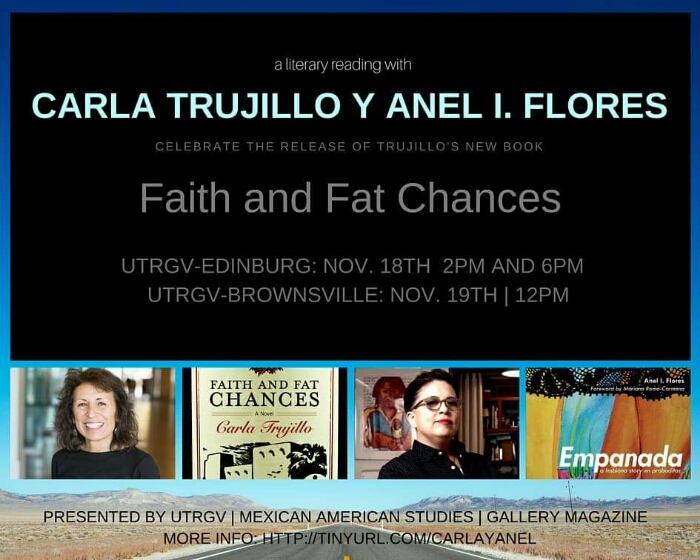 A Literary  Reading with Carla Trujillo and Anel I. Flores at UTRGV