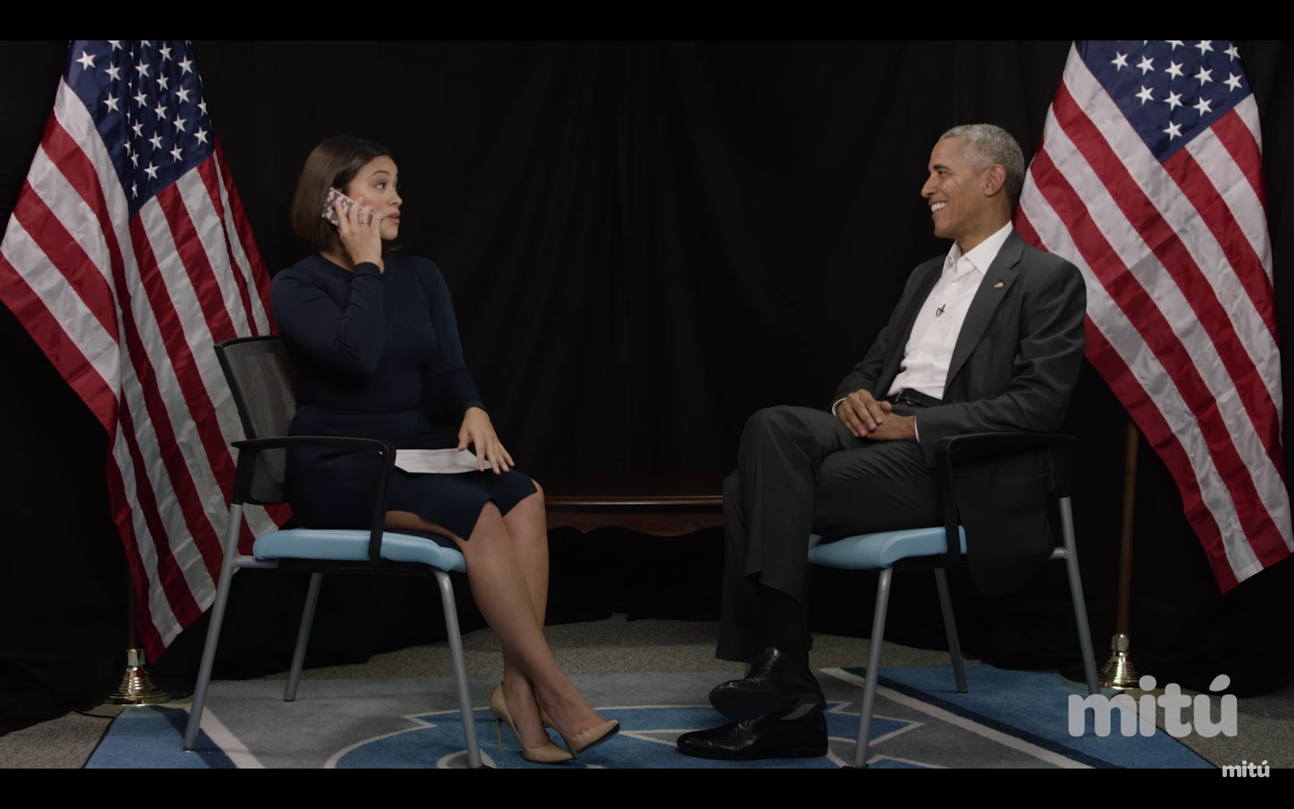 Gina Rodriguez Interviews President Obama | Que Means What