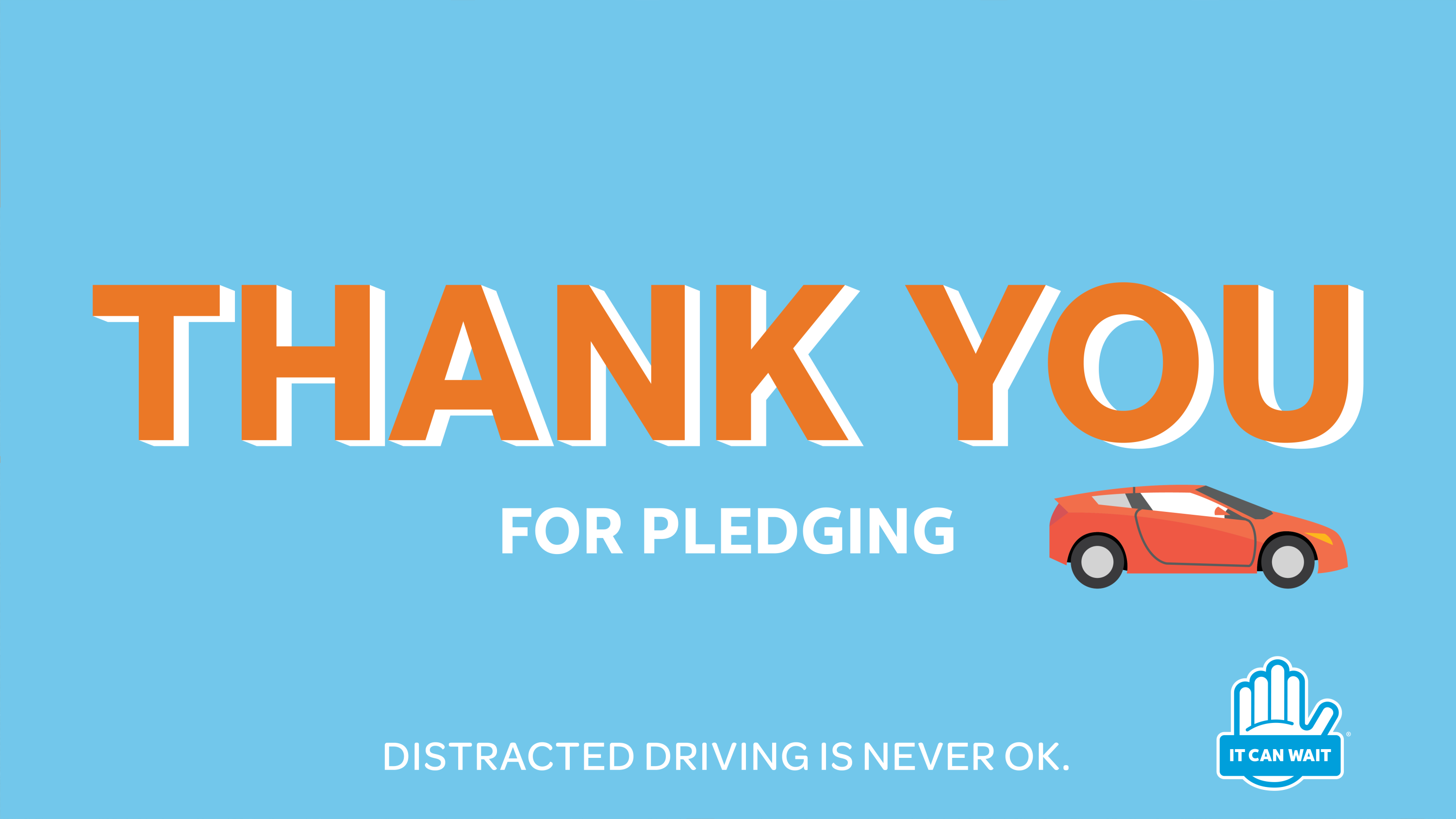 Take the AT&T It Can Wait Pledge